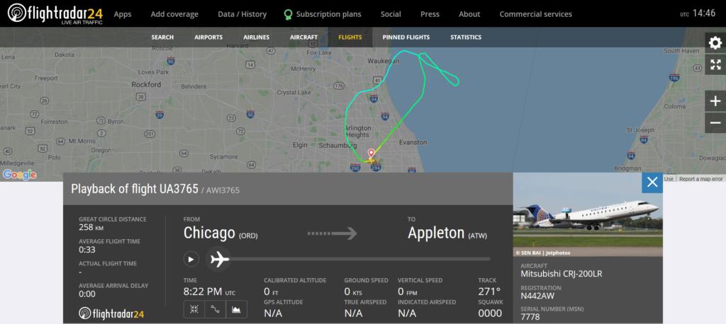 United Airlines UA3765