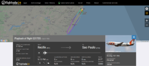 GOL Linhas Aéreas G31705 from Recife to Sao Paulo returned to Recife due to an electrical issue