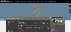Air New Zealand flight NZ5027 from Auckland to Napier landed with an assistance of emergency services because of fumes on board reported