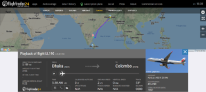 SriLankan Airlines flight UL190 from Dhaka to Colombo diverted to Chennai due to multiple system issues
