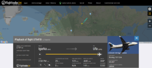 UTAir flight UT6410 from Igarka to Ufa diverted to Surgut due to a pressurisation issue