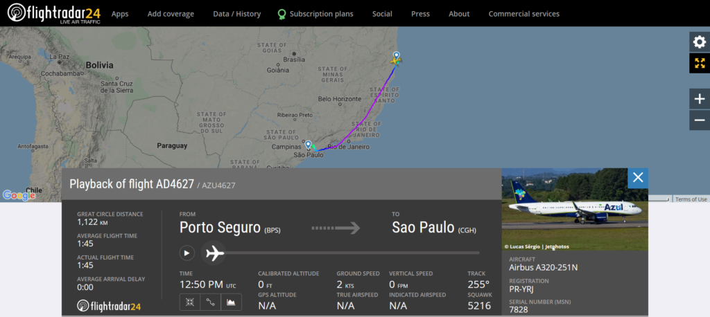 Azul Linhas Aereas flight AD4627 from Porto Seguro to Sao Paulo Congonhas diverted to Sao Paulo Guarulhos due to a flaps issue