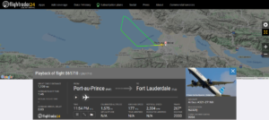 JetBlue flight B61710 from Port-au-Prince to Fort Lauderdale returned to Port-au-Prince due to an engine issue