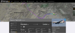 British Airways flight BA260 from Islamabad to London returned to Islamabad due to a medical emergency