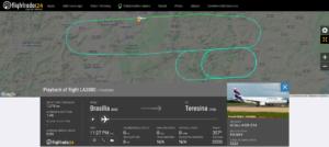 LATAM flight LA3080 from Brasilia to Teresina returned to Brasilia due to a bird strike