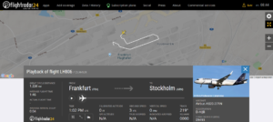 Lufthansa flight LH806 from Frankfurt to Stockholm rejected takeoff due to bird strike