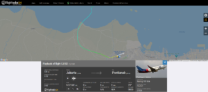 Sriwijaya Air flight SJ182 from Jakarta to Pontianak disappeared from radar about 4 minutes after departure