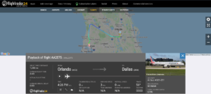 American Airlines flight AA2075 from Orlando to Dallas diverted to Tampa due to passenger servicing