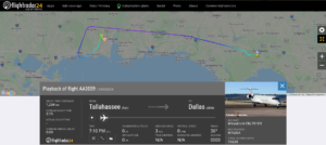 American Airlines flight AA3059 from Tallahassee to Dallas diverted to Mobile due to a mechanical issue