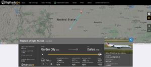American Airlines flight AA3500 from Garden City to Dallas declared an emergency and diverted to Grand Island due to landing gear issue