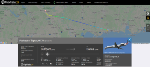 American Airlines flight AA4170 from Gulfport to Dallas diverted to Alexandria due to a smoke on board