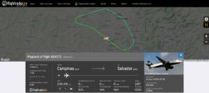 Azul Linhas Aereas flight AD4372 from Campinas to Salvador returned to Campinas due to smoke in the cabin