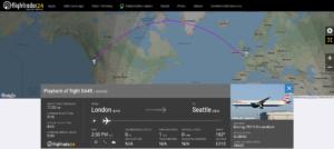 British Airways flight BA49 from London to Seattle encountered turbulence