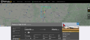 Delta Air Lines flight DL1655 from Louisville to Atlanta returned to Louisville due to a trim issue