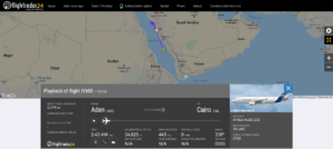 Yemenia flight IY608 from Aden to Cairo diverted to Jeddah due to technical issue
