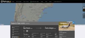 LATAM Airlines flight LA3455 from Sao Paulo to Porto Alegre experienced a pressurisation issue