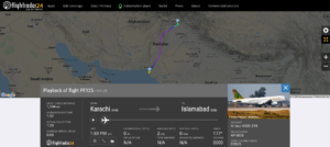 AirSial flight PF125 from Karachi to Islamabad suffered bird strike