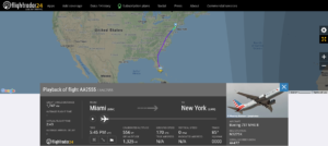 During an American Airlines flight AA2555 from Miami to New York the crew needed to shut down one engine due to an engine oil pressure or volume indication