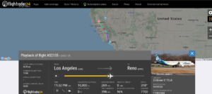 Alaska Airlines flight AS2135 from Los Angeles to Reno declared an emergency and diverted to Sacramento due to pressurisation issue