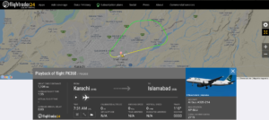 Pakistan International Airlines flight PK368 from Karachi to Islamabad returned to Karachi due to bird strike
