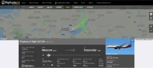 Aeroflot flight SU1104 from Moscow to Krasnodar suffered flaps issue