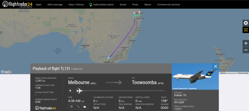 Airnorth flight TL131 from Melbourne to Toowoomba diverted to Brisbane due to flaps issue