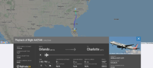 American Airlines flight AA2544 from Orlando to Charlotte suffered hydraulic issue