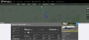 Azul Linhas Aereas flight AD4383 from Manaus to Campinas returned to Manaus due to engine issue