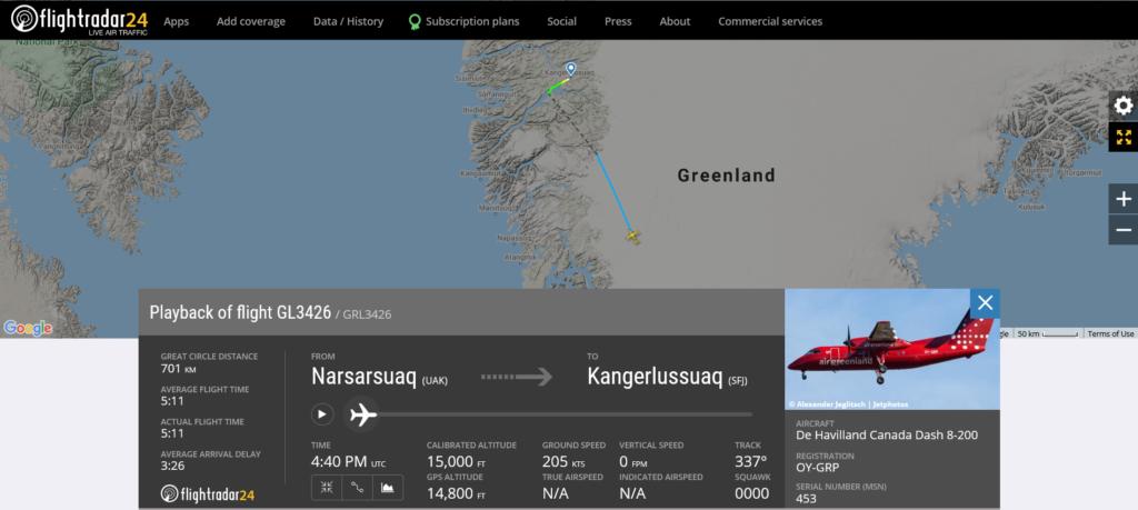 During an Air Greenland flight GL3426 from Narsarsuaq to Kangerlussuaq the crew needed to shut down engine