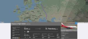 Aeroflot flight SU6562 from Sochi to St. Petersburg suffered bird strike