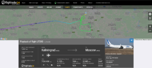 An Utair flight UT390 from Kaliningrad to Moscow suffered flaps issue