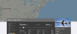 American Airlines flight AA5176 from Charlotte to Wilkes-Barre/Scranton suffered possible spoiler issue