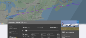 Air France flight AF377 from Detroit to Paris diverted to Halifax due to medical emergency