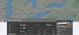 Delta Air Lines flight DL4665 from Toronto to Detroit suffered wing tip strike on landing