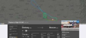 Aeroflot flight SU1245 from Orenburg to Moscow returned to Orenburg due to flaps issue