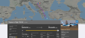 TUI fly Belgium flight TB2182 from Santorini to Brussels declared an emergency and diverted to Belgrade due to suspected fuel leak