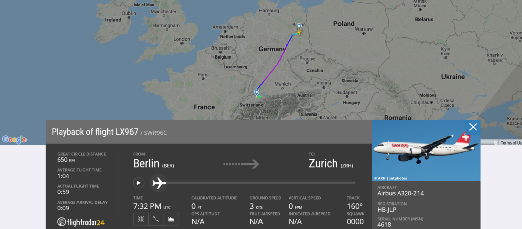 During Swiss flight LX967 from Berlin to Zurich smoke/fumes in cockpit appeared