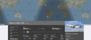 LATAM Airlines flight LA509 from Miami to Santiago suffered tyre/landing gear issue
