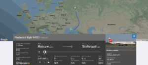 Nordwind Airlines flight N4123 from Moscow to Simferopol suffered pressurisation issue