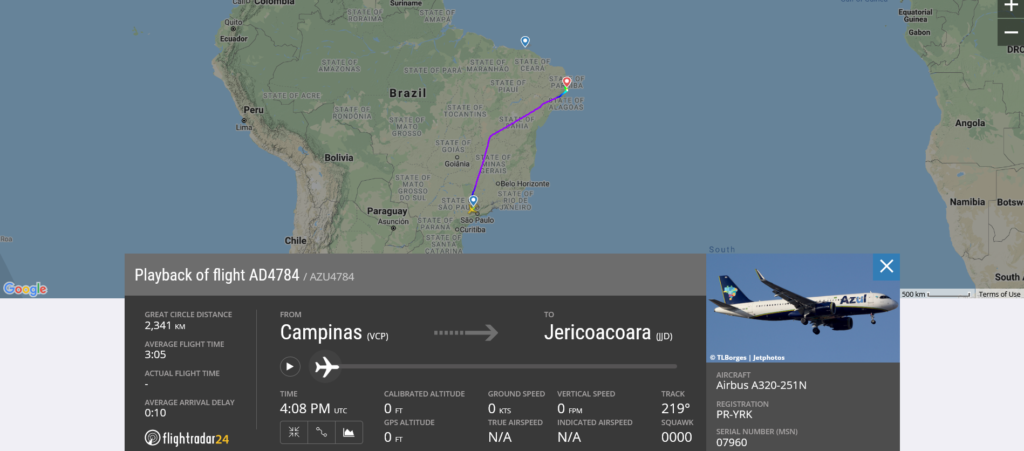 Azul Linhas Aereas flight AD4784 from Campinas to Jericoacoara diverted to Recife due to flaps issue
