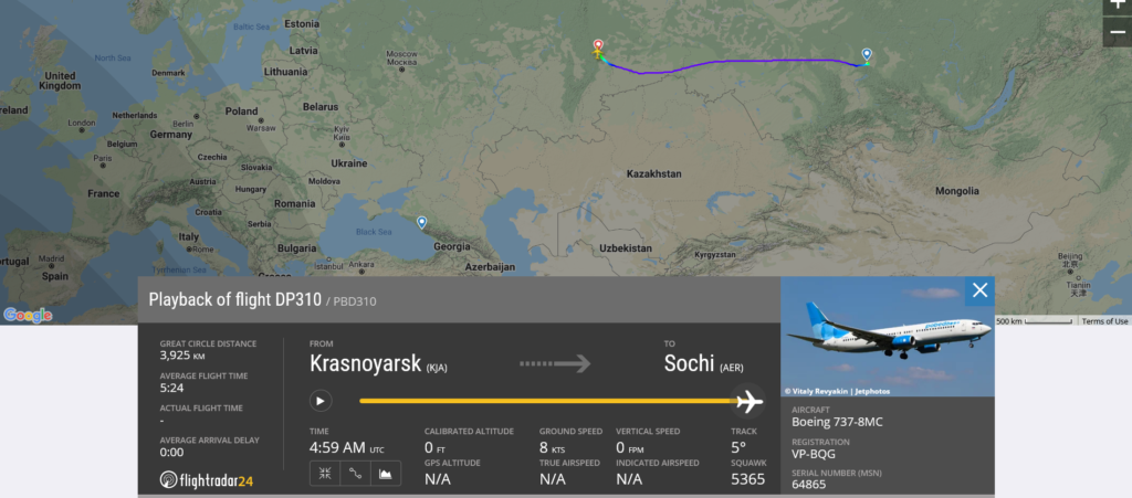 Pobeda flight DP310 diverted to Yekaterinburg due to airframe vibrations