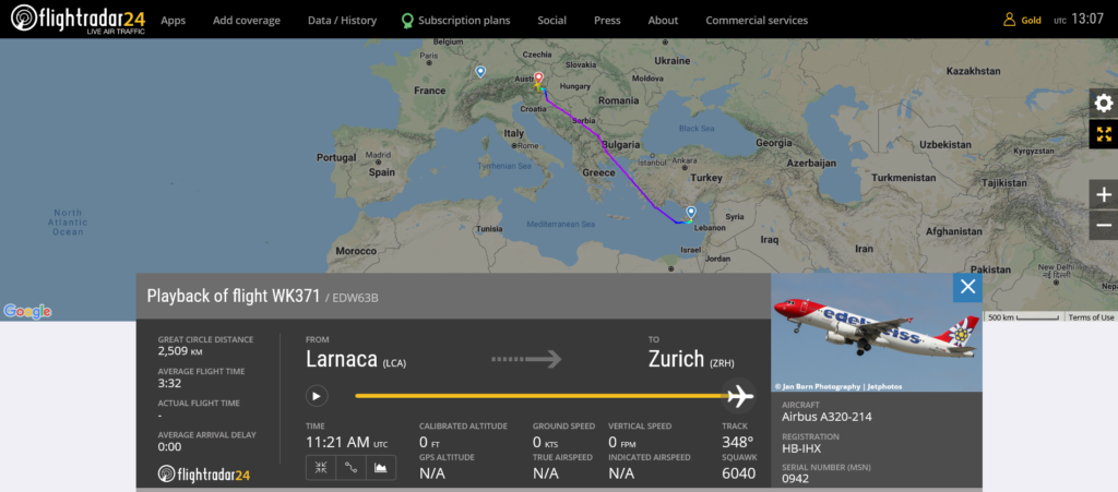 Edelweiss Air flight WK371 diverted to Graz due to disruptive passenger